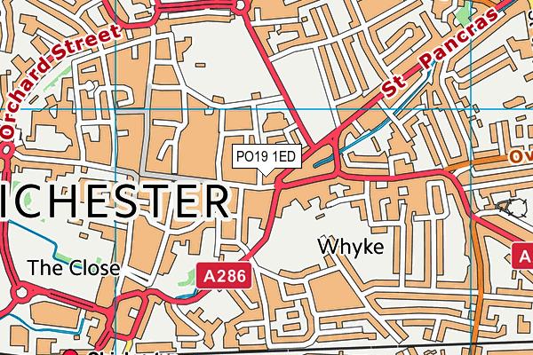 PO19 1ED map - OS VectorMap District (Ordnance Survey)