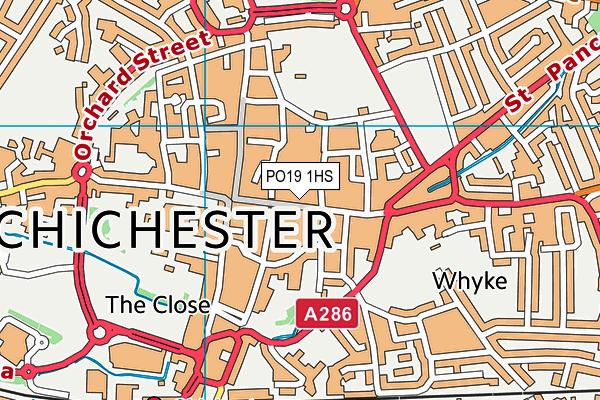 PO19 1HS map - OS VectorMap District (Ordnance Survey)