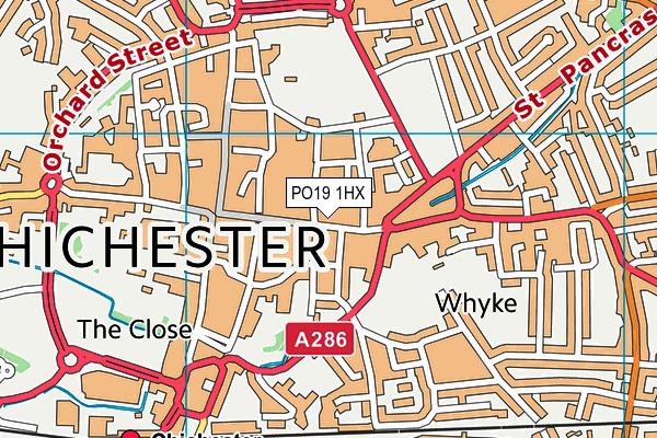 PO19 1HX map - OS VectorMap District (Ordnance Survey)