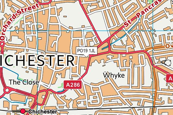PO19 1JL map - OS VectorMap District (Ordnance Survey)