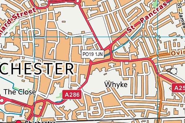 PO19 1JN map - OS VectorMap District (Ordnance Survey)