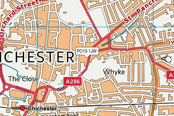 PO19 1JW map - OS VectorMap District (Ordnance Survey)