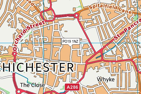 PO19 1NZ map - OS VectorMap District (Ordnance Survey)
