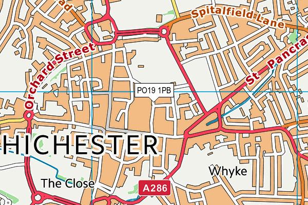 PO19 1PB map - OS VectorMap District (Ordnance Survey)