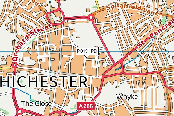 PO19 1PD map - OS VectorMap District (Ordnance Survey)