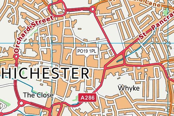 PO19 1PL map - OS VectorMap District (Ordnance Survey)
