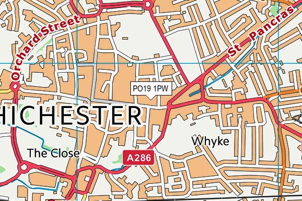 PO19 1PW map - OS VectorMap District (Ordnance Survey)