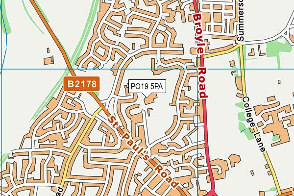 St Anthony's School map (PO19 5PA) - OS VectorMap District (Ordnance Survey)