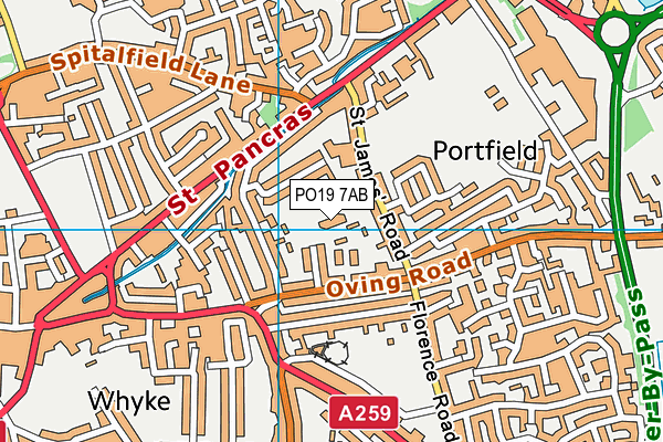 Chichester Nursery School map (PO19 7AB) - OS VectorMap District (Ordnance Survey)