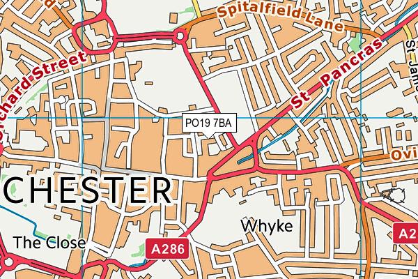 PO19 7BA map - OS VectorMap District (Ordnance Survey)
