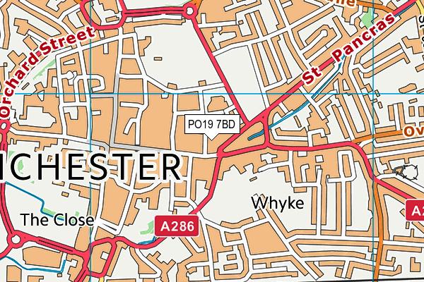 PO19 7BD map - OS VectorMap District (Ordnance Survey)