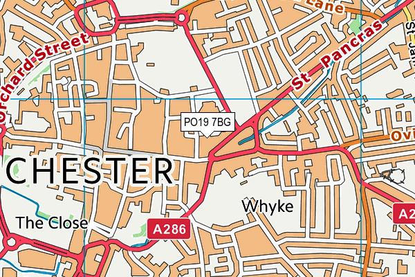 PO19 7BG map - OS VectorMap District (Ordnance Survey)