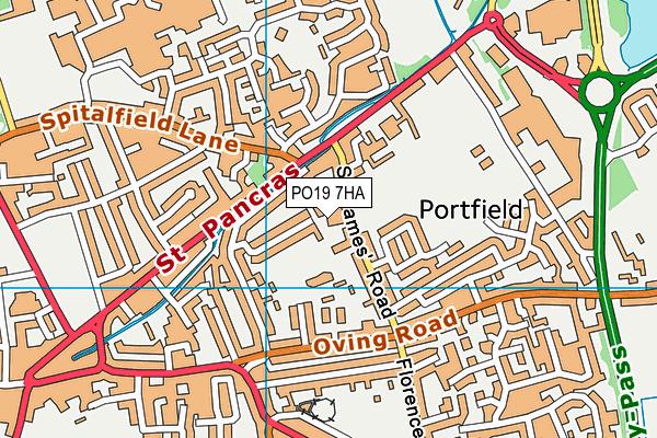 Portfield Primary Academy map (PO19 7HA) - OS VectorMap District (Ordnance Survey)