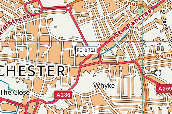 PO19 7SJ map - OS VectorMap District (Ordnance Survey)