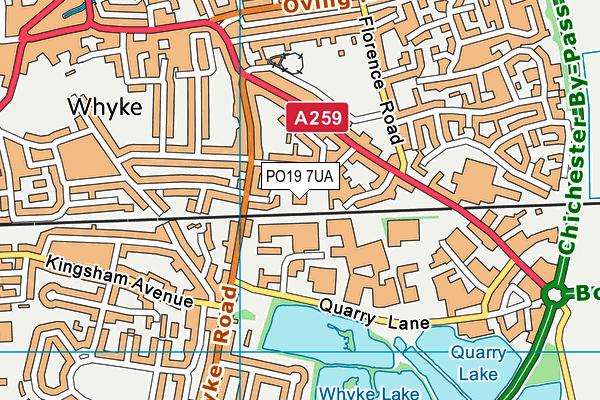 Rumboldswhyke CofE Infants' School map (PO19 7UA) - OS VectorMap District (Ordnance Survey)