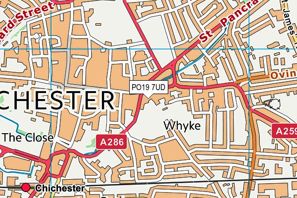 PO19 7UD map - OS VectorMap District (Ordnance Survey)