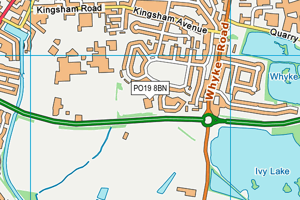 Kingsham Primary School map (PO19 8BN) - OS VectorMap District (Ordnance Survey)