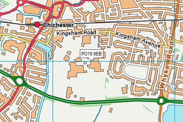 Chichester High School map (PO19 8EB) - OS VectorMap District (Ordnance Survey)