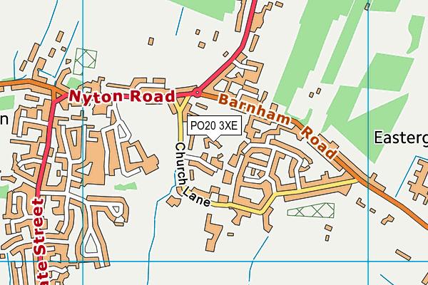 PO20 3XE map - OS VectorMap District (Ordnance Survey)