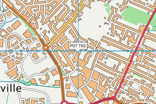 PO7 7XG map - OS VectorMap District (Ordnance Survey)