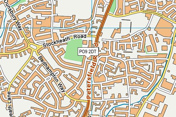 PO9 2DT map - OS VectorMap District (Ordnance Survey)