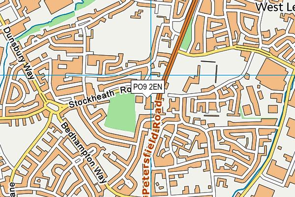 PO9 2EN map - OS VectorMap District (Ordnance Survey)