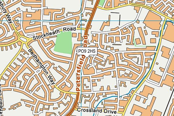 PO9 2HS map - OS VectorMap District (Ordnance Survey)