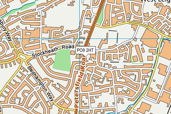 PO9 2HT map - OS VectorMap District (Ordnance Survey)