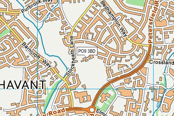 Trosnant Junior School map (PO9 3BD) - OS VectorMap District (Ordnance Survey)