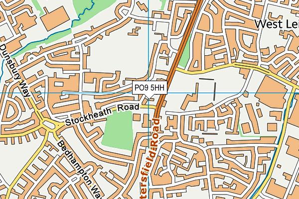 PO9 5HH map - OS VectorMap District (Ordnance Survey)