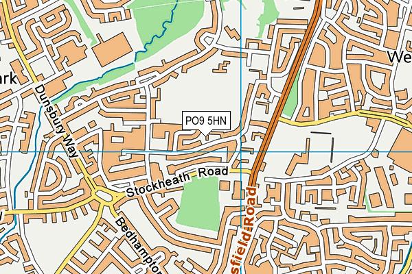 PO9 5HN map - OS VectorMap District (Ordnance Survey)