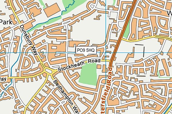 PO9 5HQ map - OS VectorMap District (Ordnance Survey)