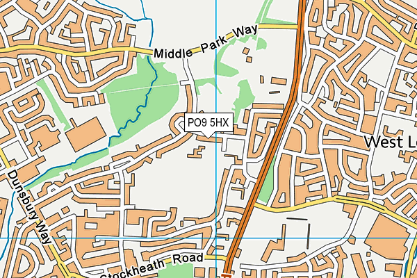 Front Lawn Primary Academy map (PO9 5HX) - OS VectorMap District (Ordnance Survey)