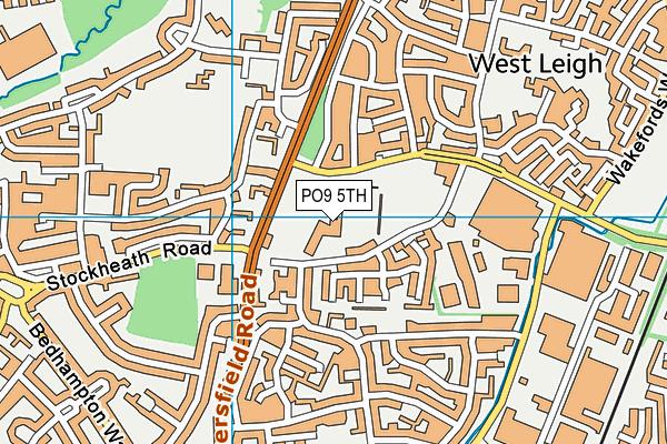 Westleigh Park map (PO9 5TH) - OS VectorMap District (Ordnance Survey)