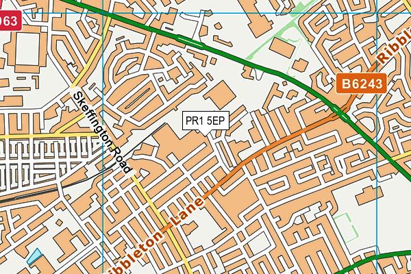 West View Leisure Centre map (PR1 5EP) - OS VectorMap District (Ordnance Survey)
