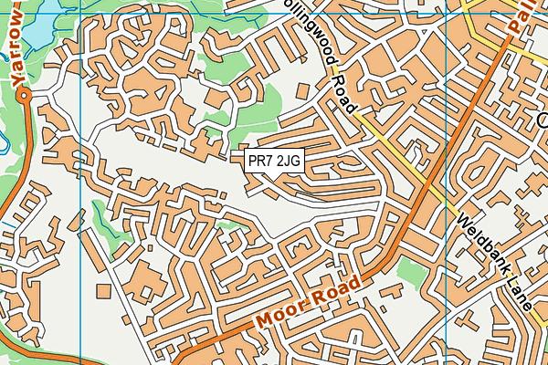 PR7 2JG map - OS VectorMap District (Ordnance Survey)