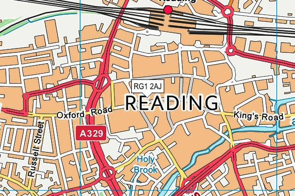 RG1 2AJ map - OS VectorMap District (Ordnance Survey)