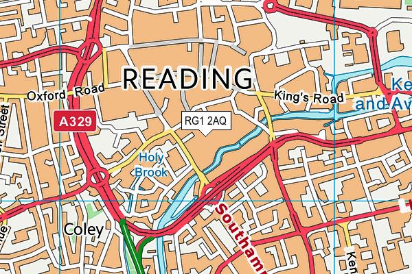 RG1 2AQ map - OS VectorMap District (Ordnance Survey)