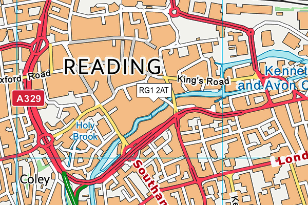RG1 2AT map - OS VectorMap District (Ordnance Survey)