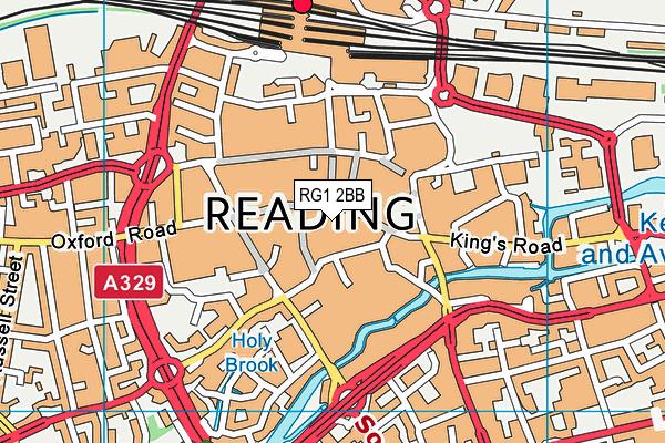 RG1 2BB map - OS VectorMap District (Ordnance Survey)