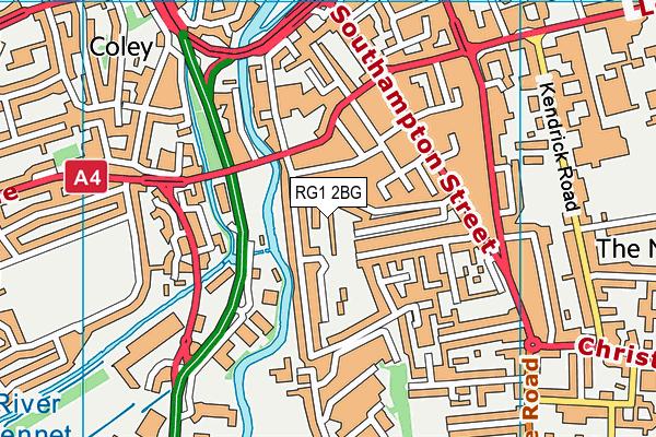 RG1 2BG map - OS VectorMap District (Ordnance Survey)