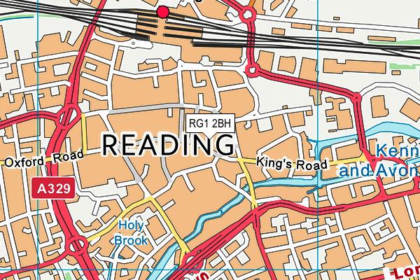 RG1 2BH map - OS VectorMap District (Ordnance Survey)