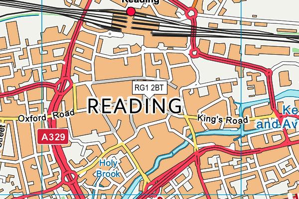RG1 2BT map - OS VectorMap District (Ordnance Survey)