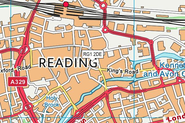 RG1 2DE map - OS VectorMap District (Ordnance Survey)