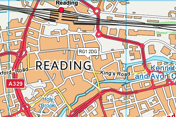RG1 2DG map - OS VectorMap District (Ordnance Survey)