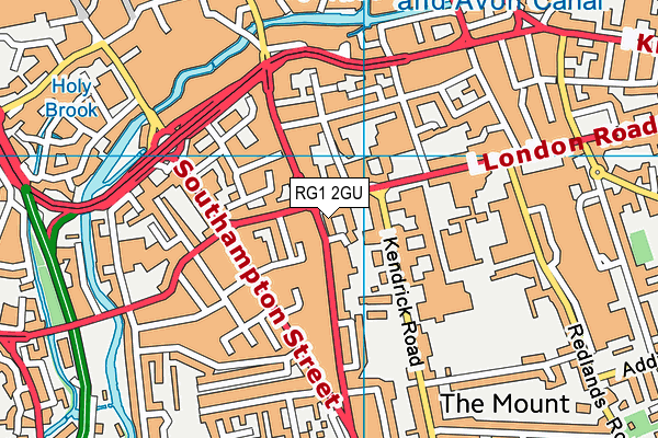 RG1 2GU map - OS VectorMap District (Ordnance Survey)