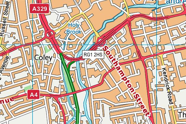 RG1 2HS map - OS VectorMap District (Ordnance Survey)