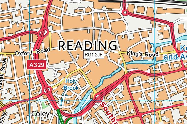 RG1 2JF map - OS VectorMap District (Ordnance Survey)