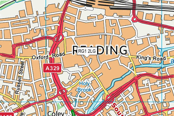 RG1 2LG map - OS VectorMap District (Ordnance Survey)