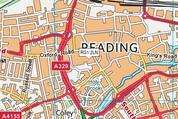 RG1 2LN map - OS VectorMap District (Ordnance Survey)
